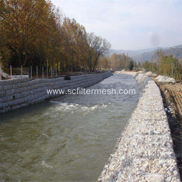Gabion Wire Mesh Baskets Filled With Stone
