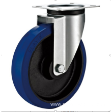 125mm industrial rubber  swivel   casters without  brakes