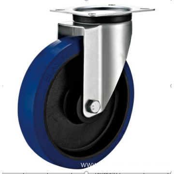 100mm industrial rubber  swivel   casters without  brakes