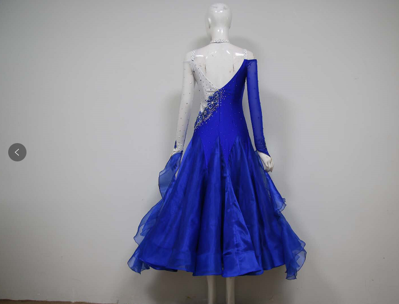 Blue Ballroom Dance Dresses Us