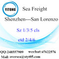 Shenzhen Port LCL Consolidation To San Lorenzo
