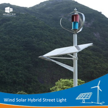 China Factories for Wind Solar Hybrid Street Light,Wind Generator Solar Street Light,Wind Mill Solar Street Light Manufacturers and Suppliers in China DELIGHT Vertical Axis Wind Solar Energy Lamp supply to Netherlands Antilles Exporter