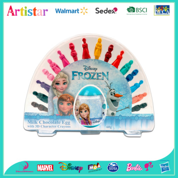 DISNEY FROZEN 3D crayons with egg