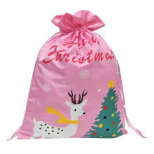 "OEM for Kids Christmas Sacks Christmas sack with"" Merry Christmas""  letter pattern supply to France Manufacturers"