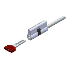 Spindle sided computer key cylinder lock with 6pin
