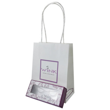 White Kraft Paper Elegant Handle Paper Bag