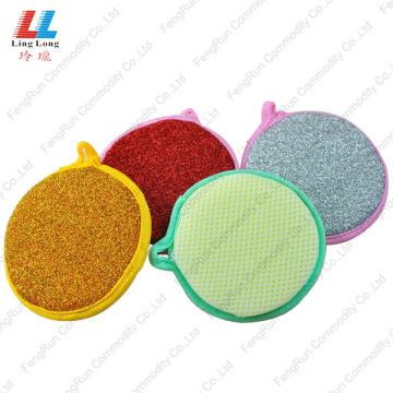magic sponge cleaning cloth pad in dishwashing