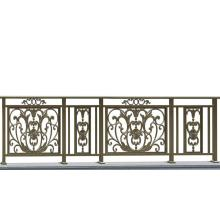 Supply for Balcony Guardrail Bloom flower aluminum balcony fence(bronze) export to Poland Supplier