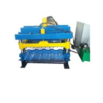 Circular arc glazed tile pressing machine