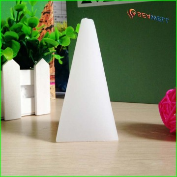 Supply scented pyramid shape candle for favor