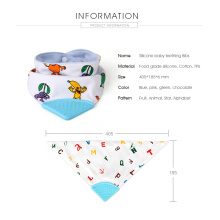 20 Years Factory for Printing Silicone Baby Bibs FDA approved silicone baby teething bibs export to Russian Federation Manufacturer