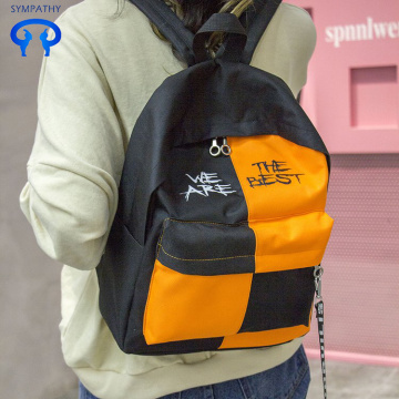 Schoolyard harajuku backpack fashion color contrast backpack