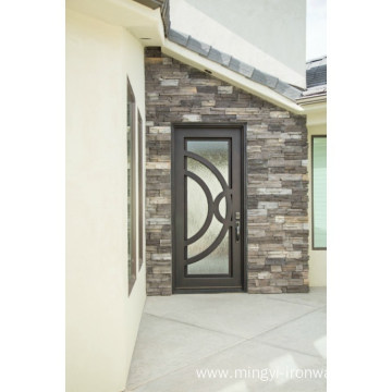 Modern Design Forge Iron Single Doors