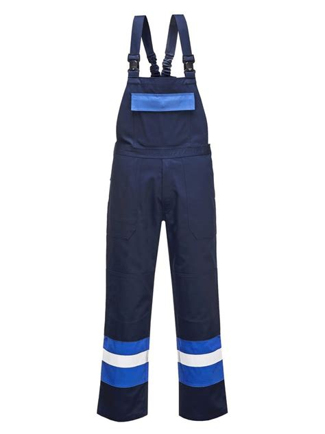 Fr Antistatic Bib Pants Blue