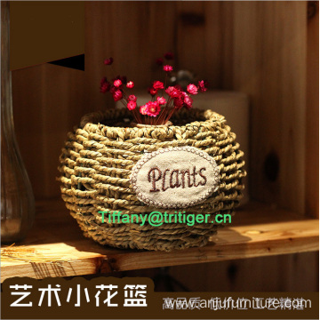 Factory Flower Basket PVC Wicker Willow Garden Basket With Handle