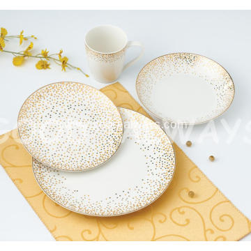 New bone china tableware with flower design