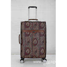 Super mute pattern pu trolley luggage
