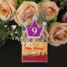 Factory directly sale for Golden Number Candles Number Shaped Crown Birthday Party Candles export to Indonesia Suppliers