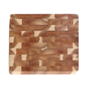 End grain wooden cutting board