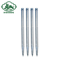Q235 Steel Ground Screw Pole Anchors