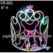 2018 Fashion Pink Light Up Crown Birthday