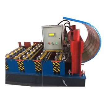 Hydraulic curving roof forming machine