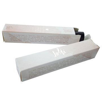 Recycled Fold White Lip Gloss Gold Foil Box