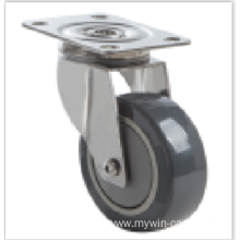 4  inch Stainless steel bracket  mediun duty  casters without brakes