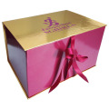 Ribbon decorative cardboard box with bag