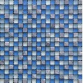 Frosted Surface Blue Crystal Glass Mosaic