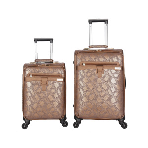 PU leather travel luggage with makeup bag market
