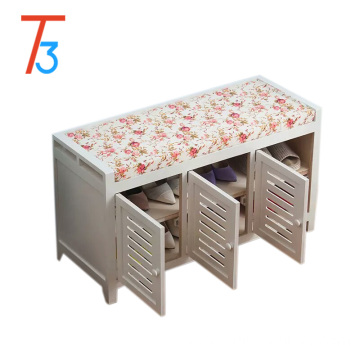 Shoe cabinet storage unit bench shelves Wood Rack