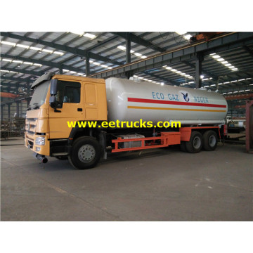 25 M3 HOWO Used LPG Tank Trucks