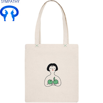 Custom art shopping bag canvas student bag