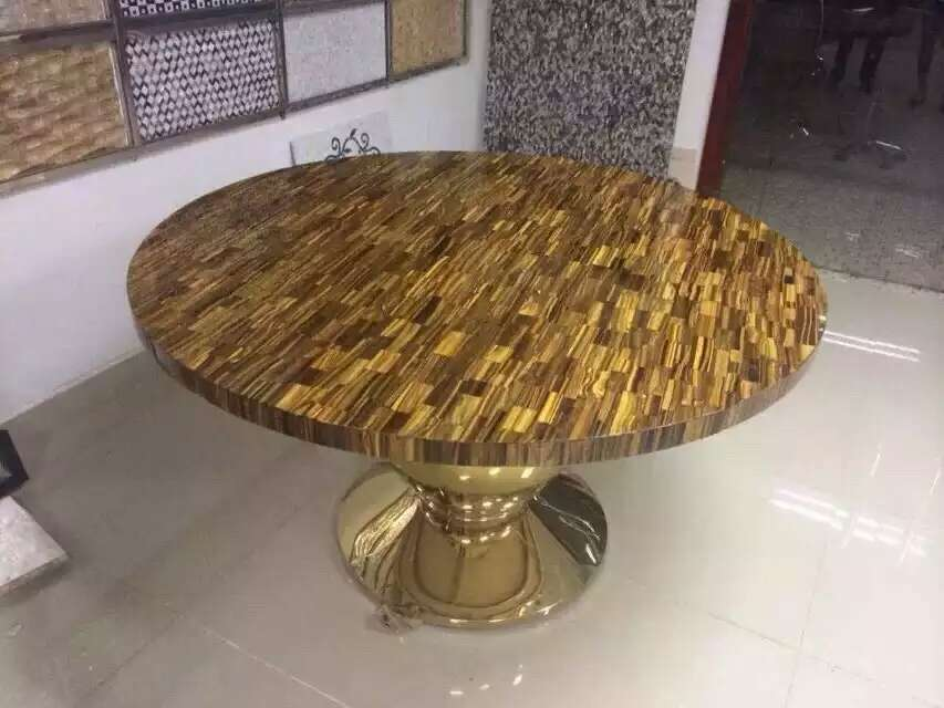 Tiger Eye Stone Table