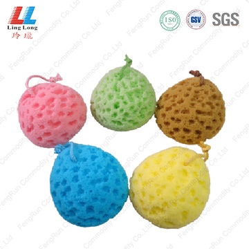 seaweed scrubber bath sponge massager for baby tubs
