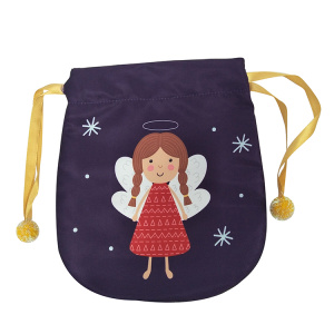Portable christmas gift bag with dancing angel pattern