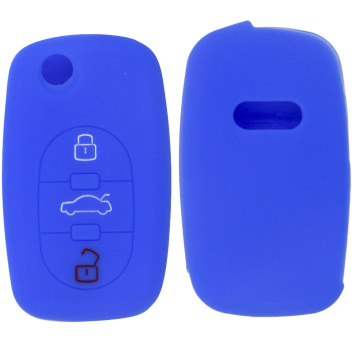 Audi folding silicone car key case