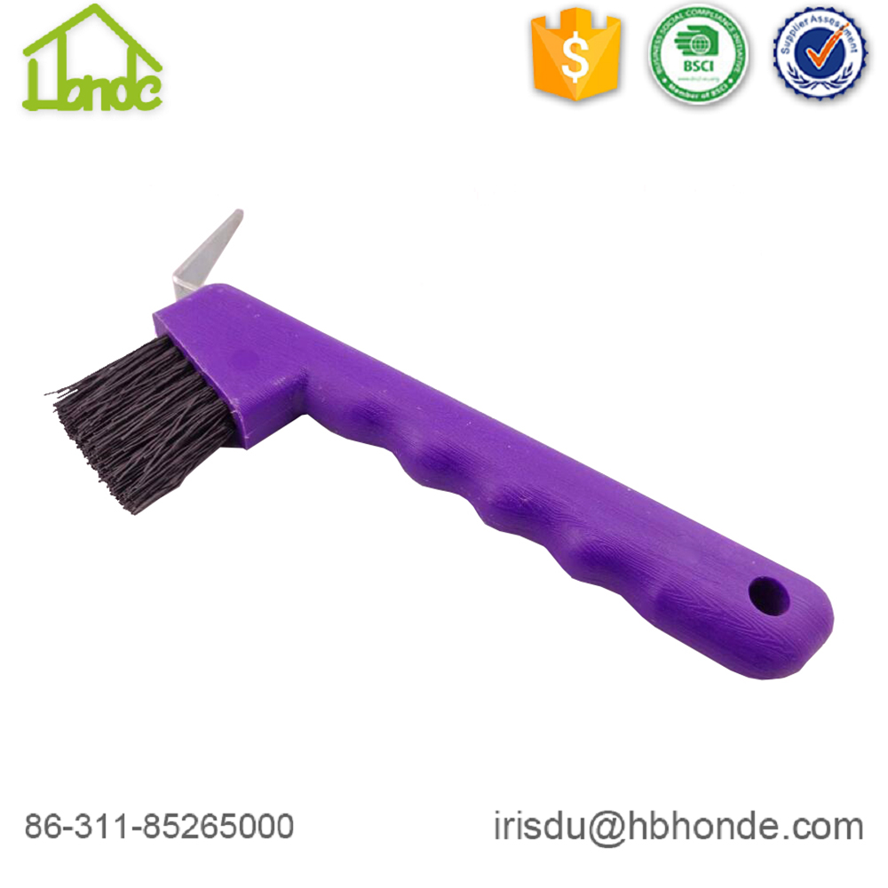 purple horse brush