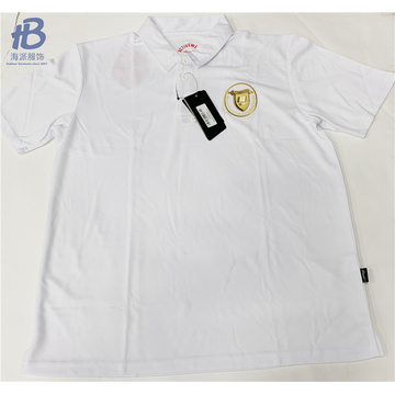 CHILDREN WHITE POLO SHIRTS