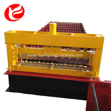 Roof colored steel sheet metal roll former machine