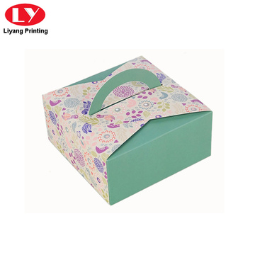 Cheaper folding soap packaging box with handle