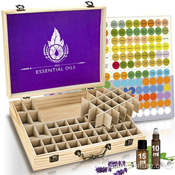 Eco-friendly 68 bottles 10 ml 15 ml Pine wooden essential oil box