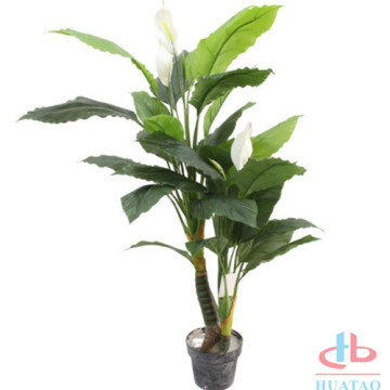 Artificial Potted White Palm Flower