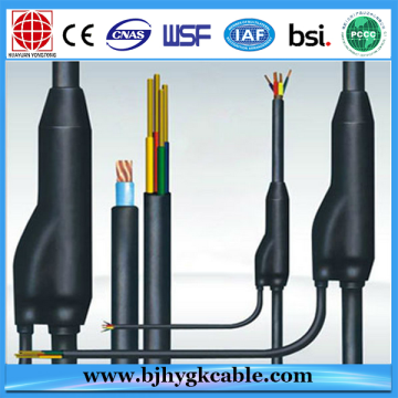 7.2mm Three cores power cable PVC sheathed branch power cable