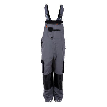 Canvas grey with black Bib Pants