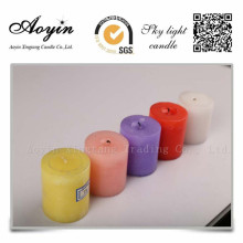 10*15 Colorful Tearless Scented Pillar candle for Peru