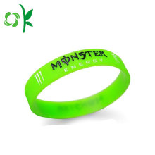 Special for Debossed Silicone Wristband Bright Green Best Blank Silicone Create Custom Bracelet export to Japan Suppliers