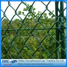 Pvc Coated 1 Inch 4mm Chain Link Fence