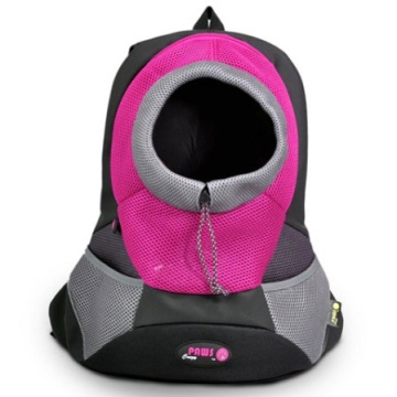 Burgundy Large PVC and Mesh Pet Backpack